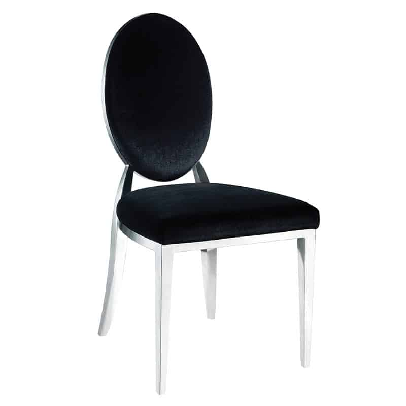 oval back dining chair. Black Oval Back Dining Chair B