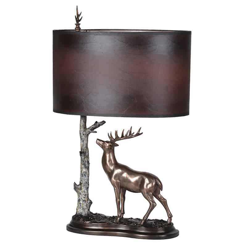 stag with tree table lamp