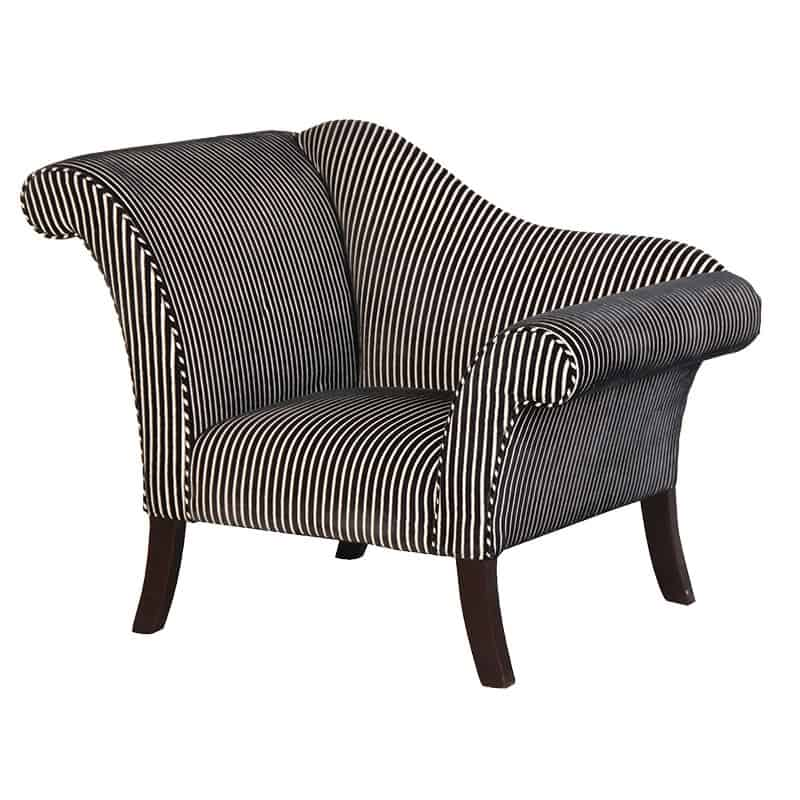Terrific Luxury Swish Back Striped Chair Home Interior And Landscaping Dextoversignezvosmurscom