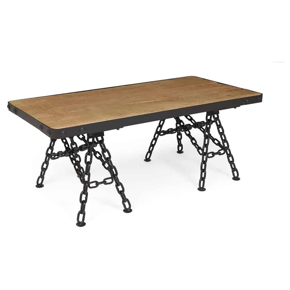 Boston industrial chain link coffee table