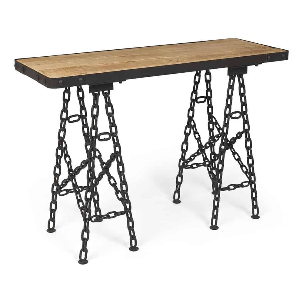 Boston industrial chain link console table