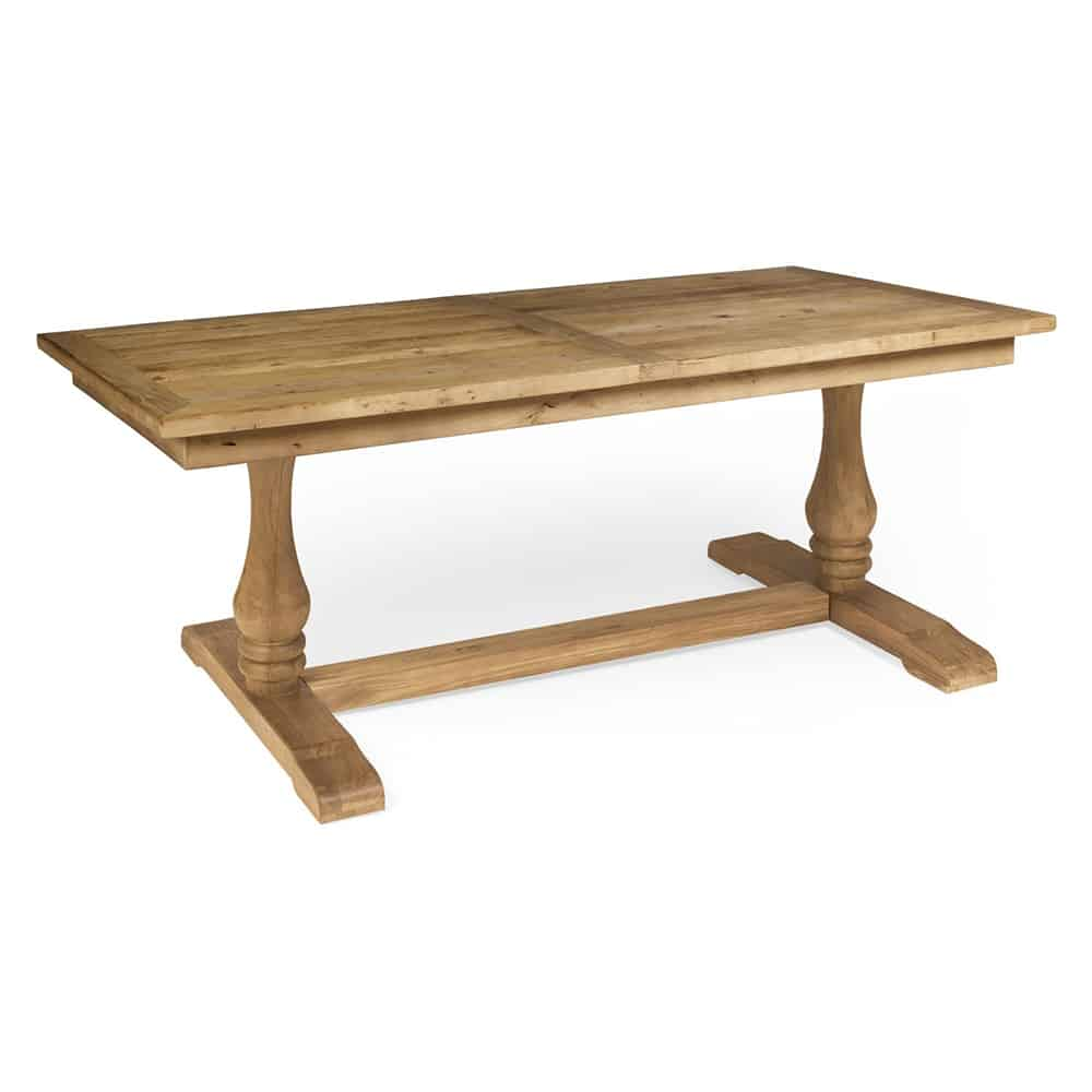 Boston small reclaimed wood refectory dining table - Tiny dining tables ...