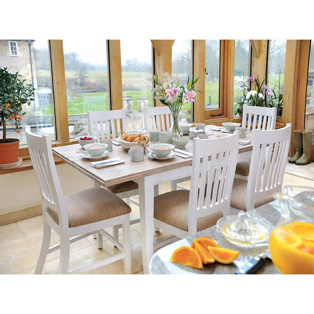 lulworth extending dining table and 6 chairs www 17345 | lulworth dining table and4 ls