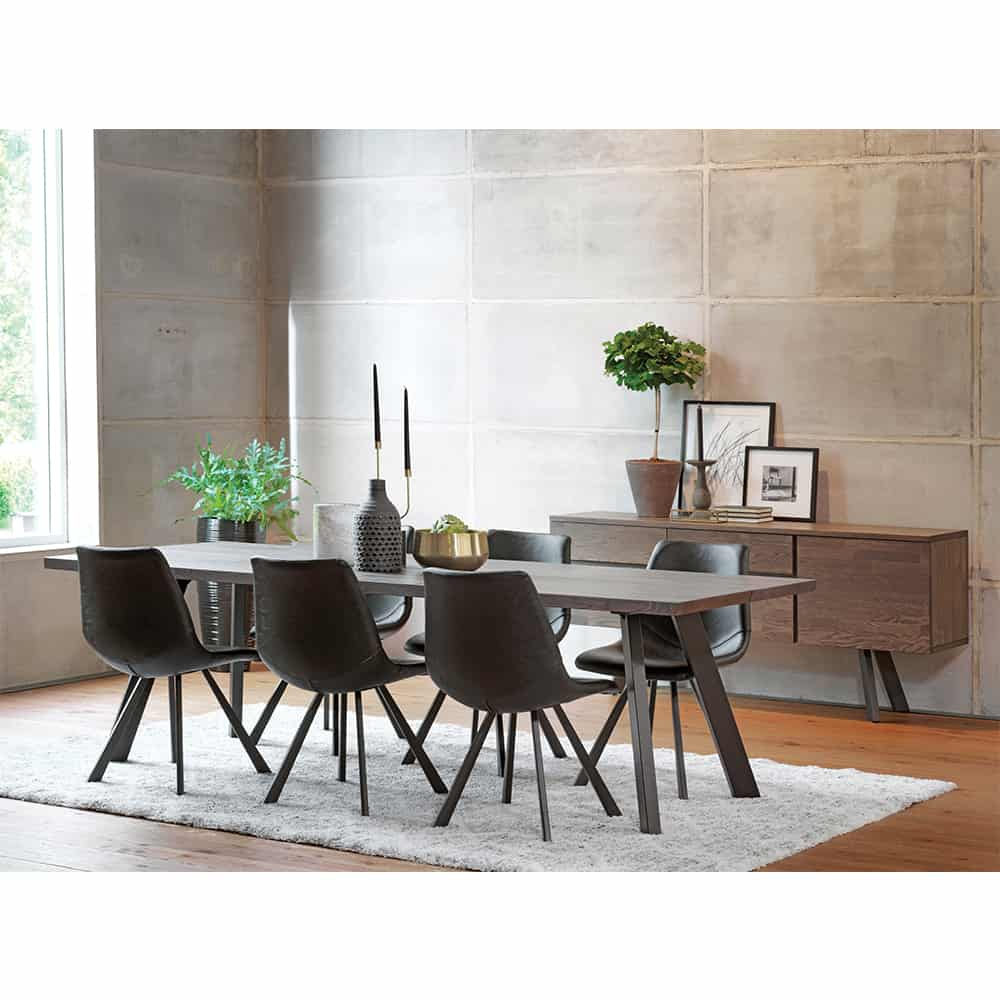 Idaho Reclaimed Natural Wood Dining Table And 6 Chairs Set